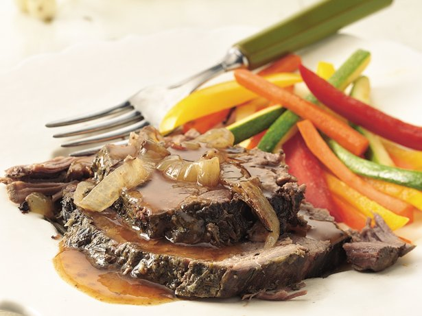Slow Cooker Rosemary-Garlic Beef Roast