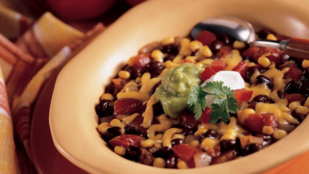 Spicy Black Bean Chili recipe from Pillsbury.com