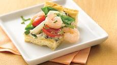 Shrimp and Veggie Appetizer Pizza Recipe