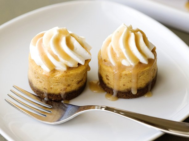 ... dessert table, these mini pumpkin cheesecakes will be a hit