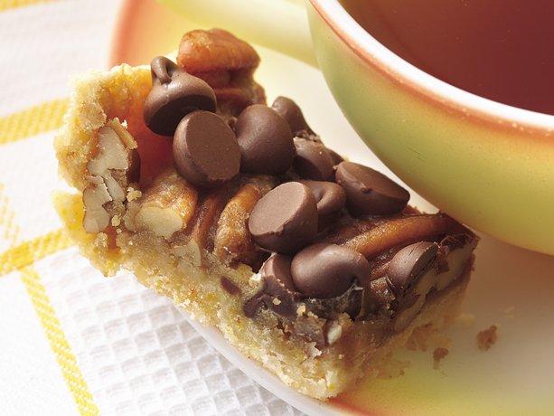 Chocolate chip pecan bars