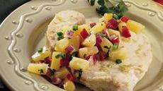 Garlic-Lime Swordfish with Pineapple Salsa Recipe