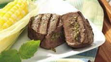 Grilled Pesto-Stuffed Tenderloin Steaks Recipe