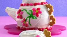 Teapot Cake with Tea-Cupcakes Recipe