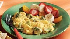Scrambled Eggs with Broccoli & Cheese Recipe