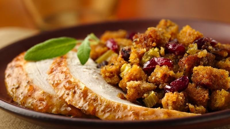 Orange-Glazed Roast Turkey with Gluten-Free Cranberry-Orange Stuffing