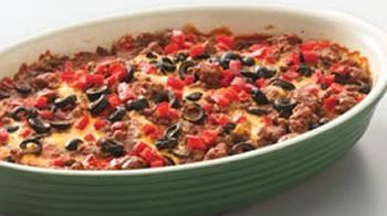 Easy Ground Beef Mexican Tortilla Casserole