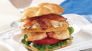 Grilled Shrimp Club Sandwiches