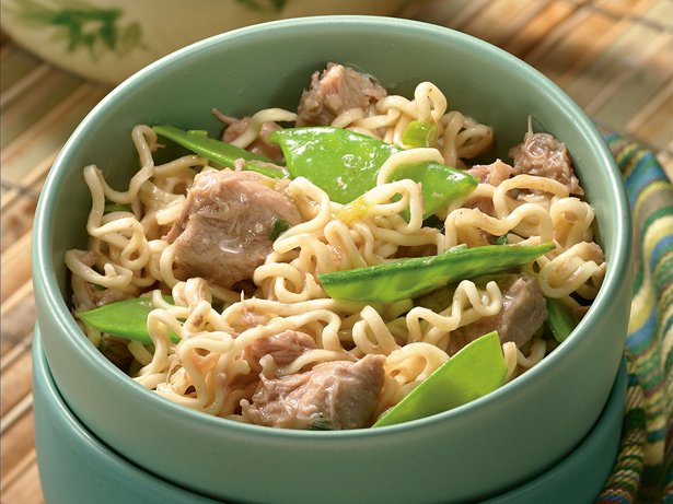 Slow Cooker Gingered Pork and Ramen Noodles