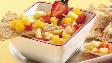 Fresh Fruit Salsa with Cinnamon Crisps