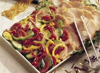 Marinated Vegetables and Turkey Platter