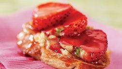 Healthified Strawberry-Honey Bruschetta