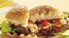 Grilled Stuffed Pizza Burgers Recipe
