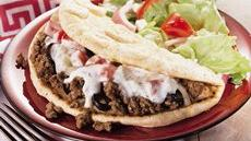 Beefy Greek Pita Folds Recipe