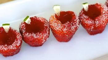 Strawberry Daiquiri Jelly Shots