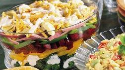 Layered Vegetable Salad