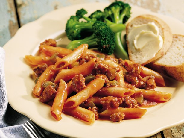 Easy Beef Mostaccioli