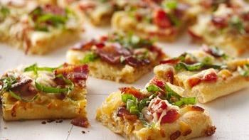 Caramelized Onion and Peppered Bacon Flatbread