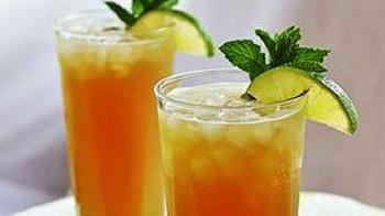 Bubbly Mint-Lime Iced Tea