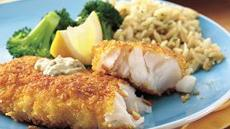 Corn Flake-Crusted Fish Fillets with Dilled Tartar Sauce Recipe