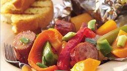 Maple Sausage, Squash and Bell Pepper Packets