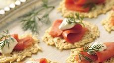 Parmesan Rounds with Lox Recipe