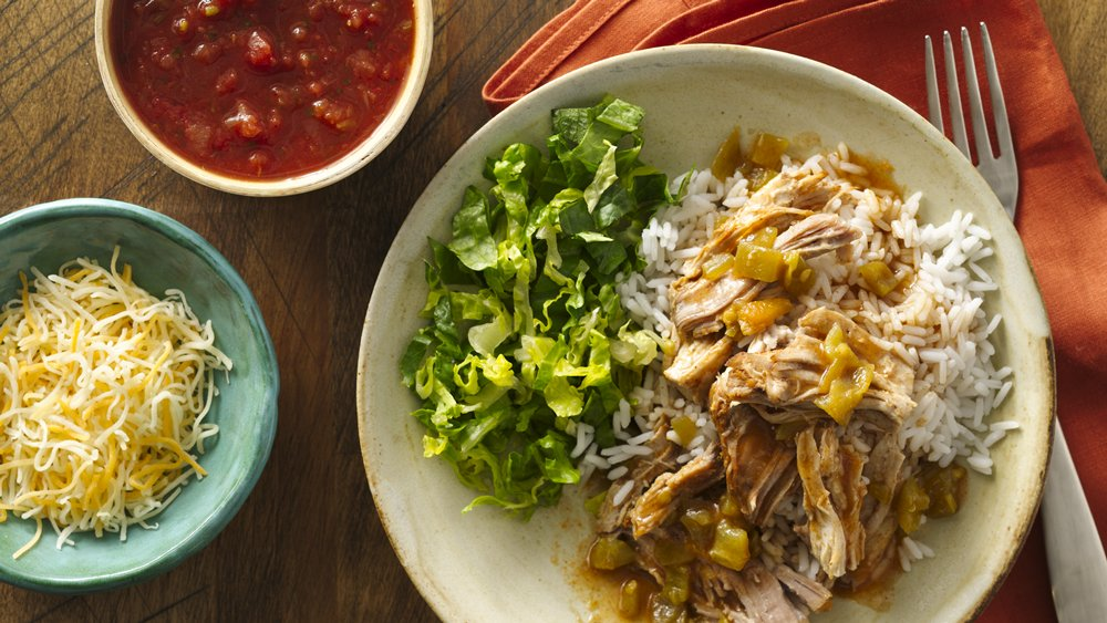 Slow-Cooker Mexican Pork Burrito Bowls recipe from ...