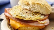 Ham, Egg And Cheese Breakfast Sandwiches Recipe