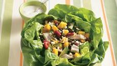 Chicken and Mango Salad in Lettuce Bowl Recipe