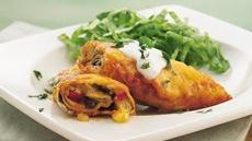 Pineapple-Black Bean Enchiladas Recipe