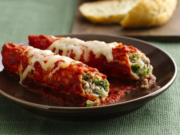 Turkey and Broccoli Manicotti