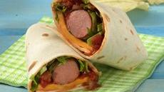 Grilled Salsa Hot Dog Wraps Recipe