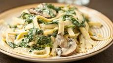Mushroom Spinach Alfredo Recipe