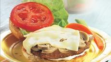 Mushroom-Swiss Veggie Burgers Recipe