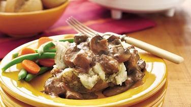 Slow-Cooker Mushroom Beef