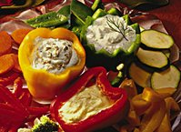 Blue Cheese Dip with Vegetables