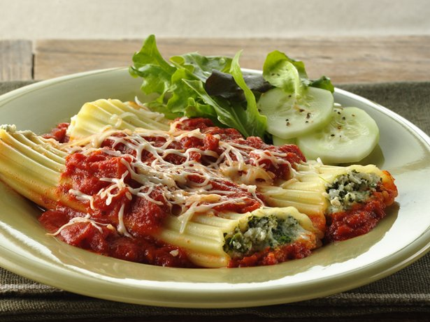 Spinach Manicotti