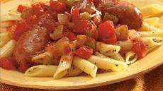 Penne with Italian Sausage and Peppers Recipe