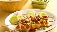 Grilled Chicken Satay with Cucumber Salad Recipe