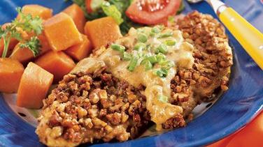 Pecan Chicken with Creamy Honey-Mustard Sauce
