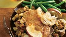 Pork Chops and Apples with Stuffing Recipe