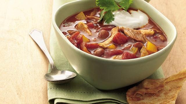 Slow Cooker Chicken Enchilada Chili (Cooking for Two)