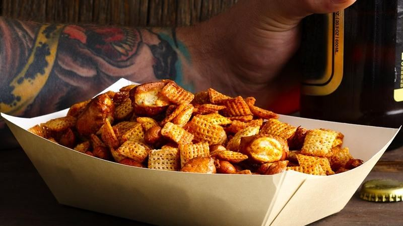 Sweet 'n' Spicy Beer Nuts Chex Mix