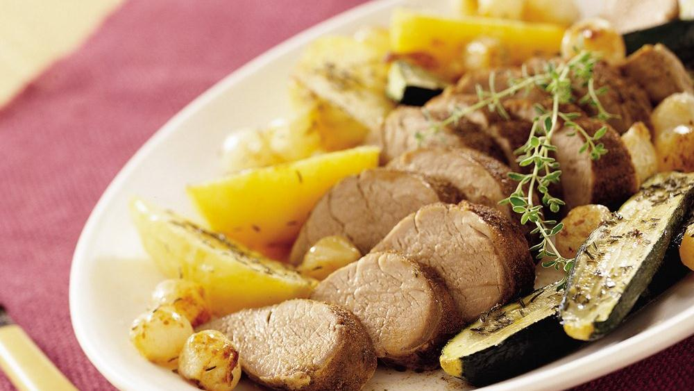 Pork Tenderloin with Veget