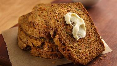 Zucchini-Carrot Bread with Creamy Honey Spread