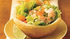 Mojito Shrimp Salad in Biscuit Bowls Recipe