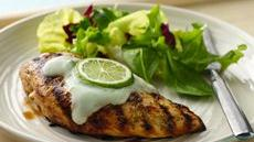 Grilled Margarita Chicken with Yogurt Sauce Recipe