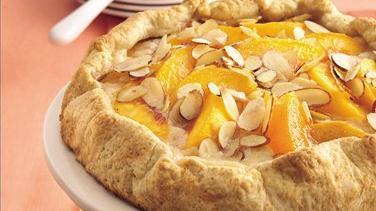 Almond-Peach Fold-Over Coffee Cake