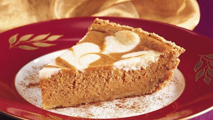 Pumpkin-Cream Cheese Pie with Cookie Crust recipe - from Tablespoon!