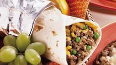 Rice and Hamburger Wraps Recipe